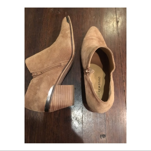 Lucky Brand Faithly Bootie(Women's) -Ivy Green Suede Buy Cheap Countdown Package High Quality Buy Online Discount 2018 mniSX